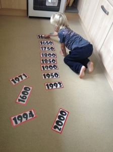 Creating a timeline to develop a sense of the past